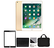 Apple 2018 iPad 9.7 128GB Wi-Fi & Accessories- Gold - E294699