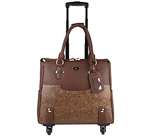 Karla Hanson Floral Print Rolling Carry-On Luggage