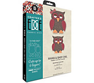 Crafters Edge Mama & Baby Owl Fabric Cutting Dies - F250305
