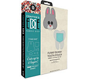 Crafters Edge Funny Bunny Tooth Pouch Fabric Cutting Dies - F250307
