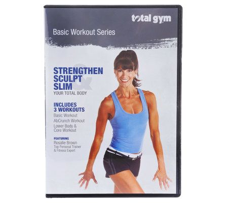 Total gym basic workout series dvd with rosalie brown page