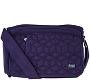 Lug Quilted Flap Crossbody Bag - Wings - F12609