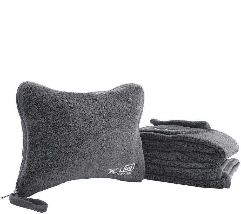 Lug Nap Sac Blanket Amp Pillow Set Page 1 Qvc Com