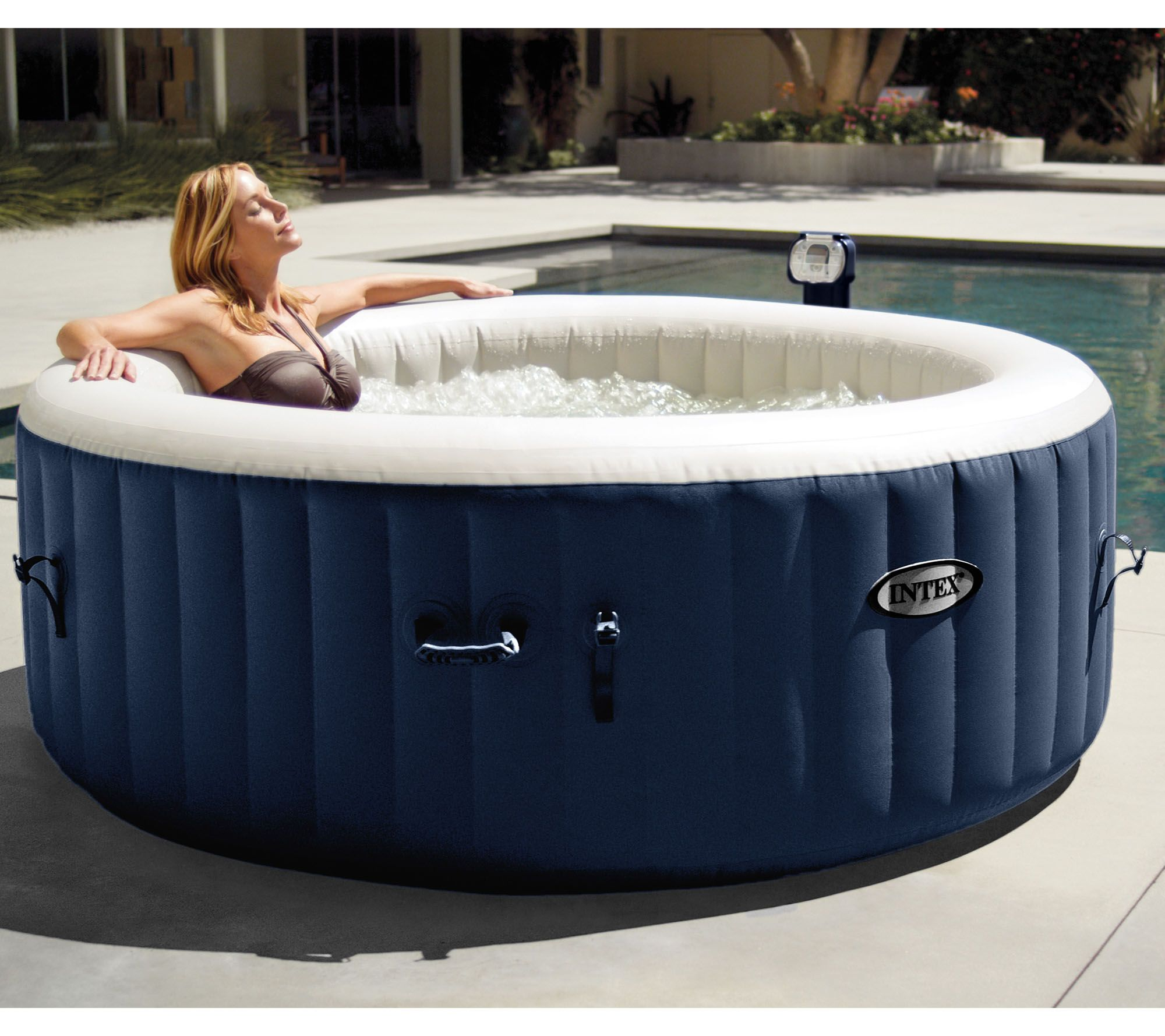 Intex Pure Spa Portable Hot Tub with Headrests and Extra Filters ...