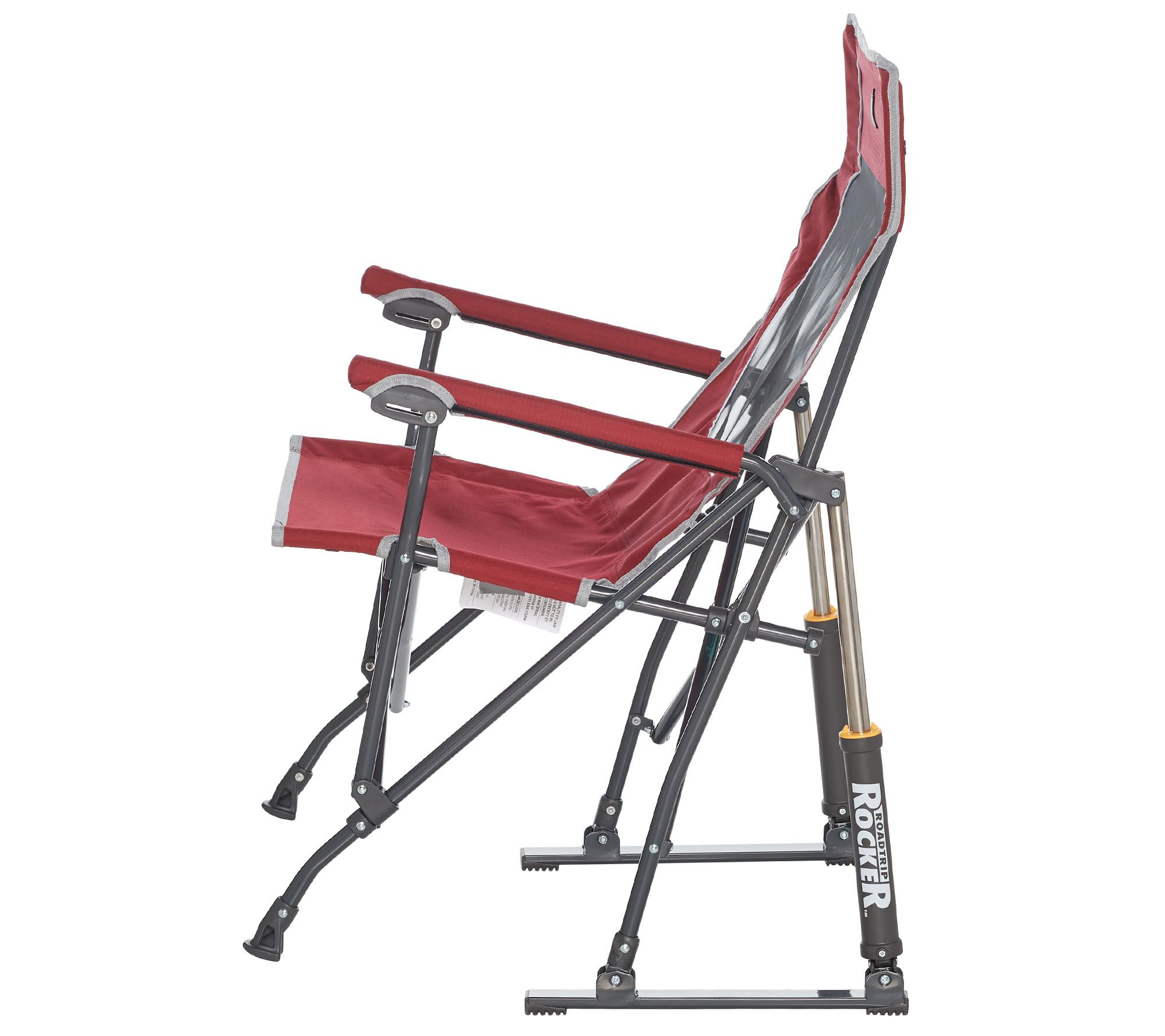 Cool Gci Outdoor Road Trip Rocker Chair With Carrying Bag Qvc Com Ibusinesslaw Wood Chair Design Ideas Ibusinesslaworg