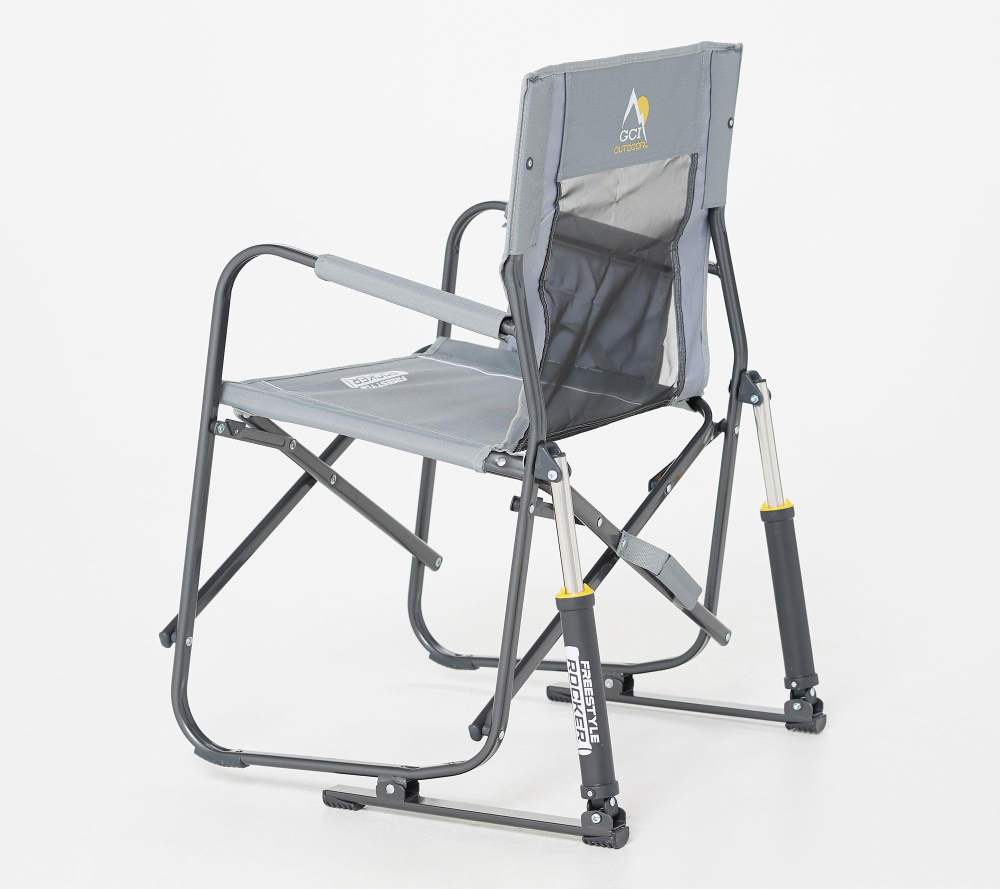Prime Gci Outdoor Freestyle Pro Rocker Chair With Built In Carry Handle Qvc Com Lamtechconsult Wood Chair Design Ideas Lamtechconsultcom