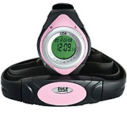 Pyle PHRM38PN Heart Rate Monitor Watch - Pink - F247923