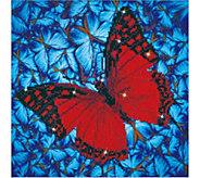 Diamond Dotz Flutterby Red 14 x 14 Facet ArtKit - F232326