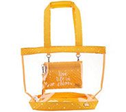 Lug Clear Tote with Message Wristlet - Peekaboo - F12727