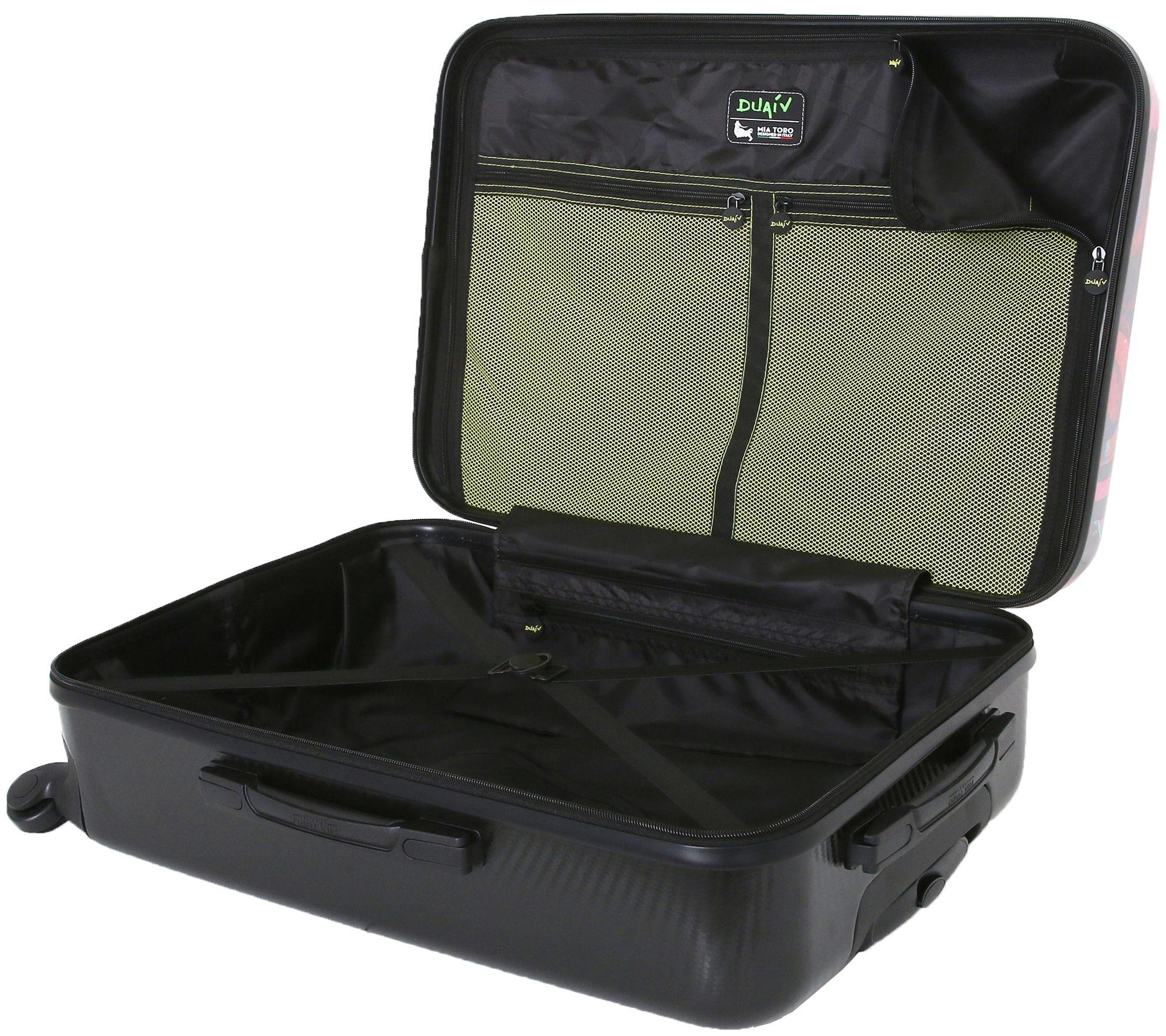 Mia Toro Italy Duaiv Hardside Spinner Luggage 3 Piece Set,zebre