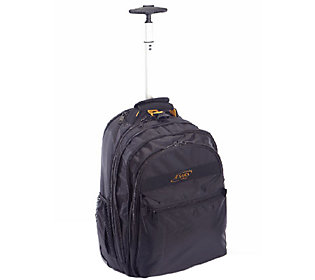 A.Saks Expandable Rolling Unisex Laptop Backpac k