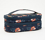 Lug Stacked & Lined Cosmetic Case - Double Decker - F13629