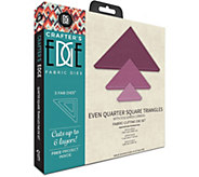 Crafters Edge Even Quarter Square Triangles Fabric Dies - F250331