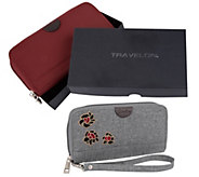Travelon Set of 2 RFID Wallets with Gift Boxes - F12933