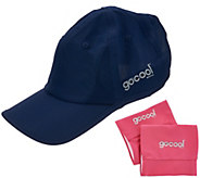 GoCool Instant Chill Hat with 2 Reversible Wristbands - F11834