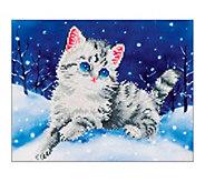 Diamond Dotz Kitten in the Snow 17 x 13-7/8 Facet Art Kit - F232338
