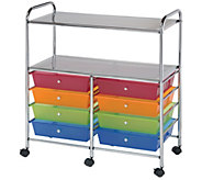 Alvin & Company Double Storage Multicolor  8 Drawers Cart - F235044