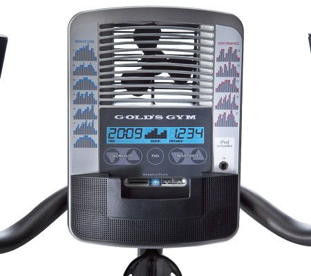 Golds Gym Power Spin 390 R Recumbent Bike — QVC com