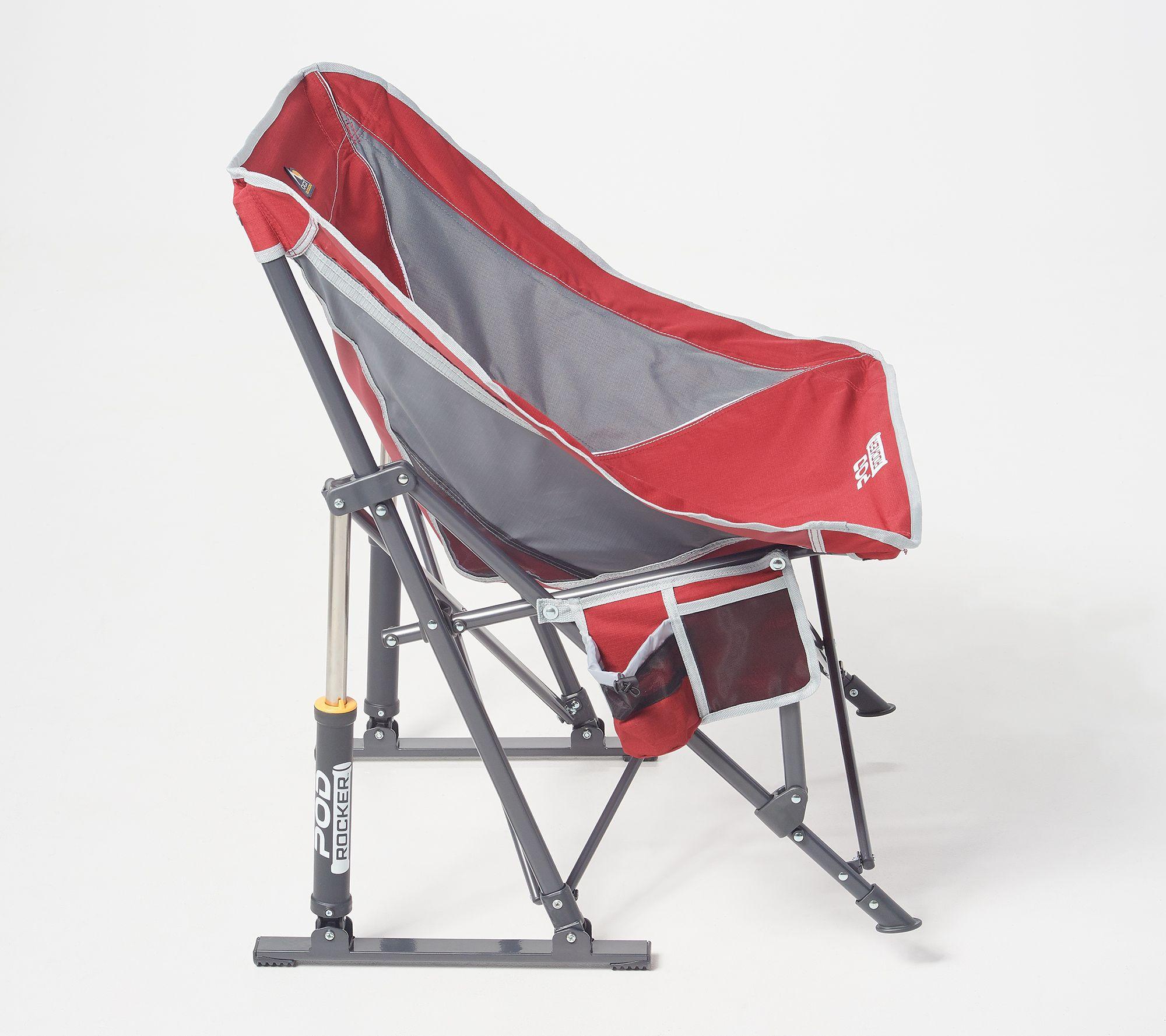 Enjoyable Gci Outdoor Pod Pro Rocker Chair With Carry Bag Qvc Com Short Links Chair Design For Home Short Linksinfo