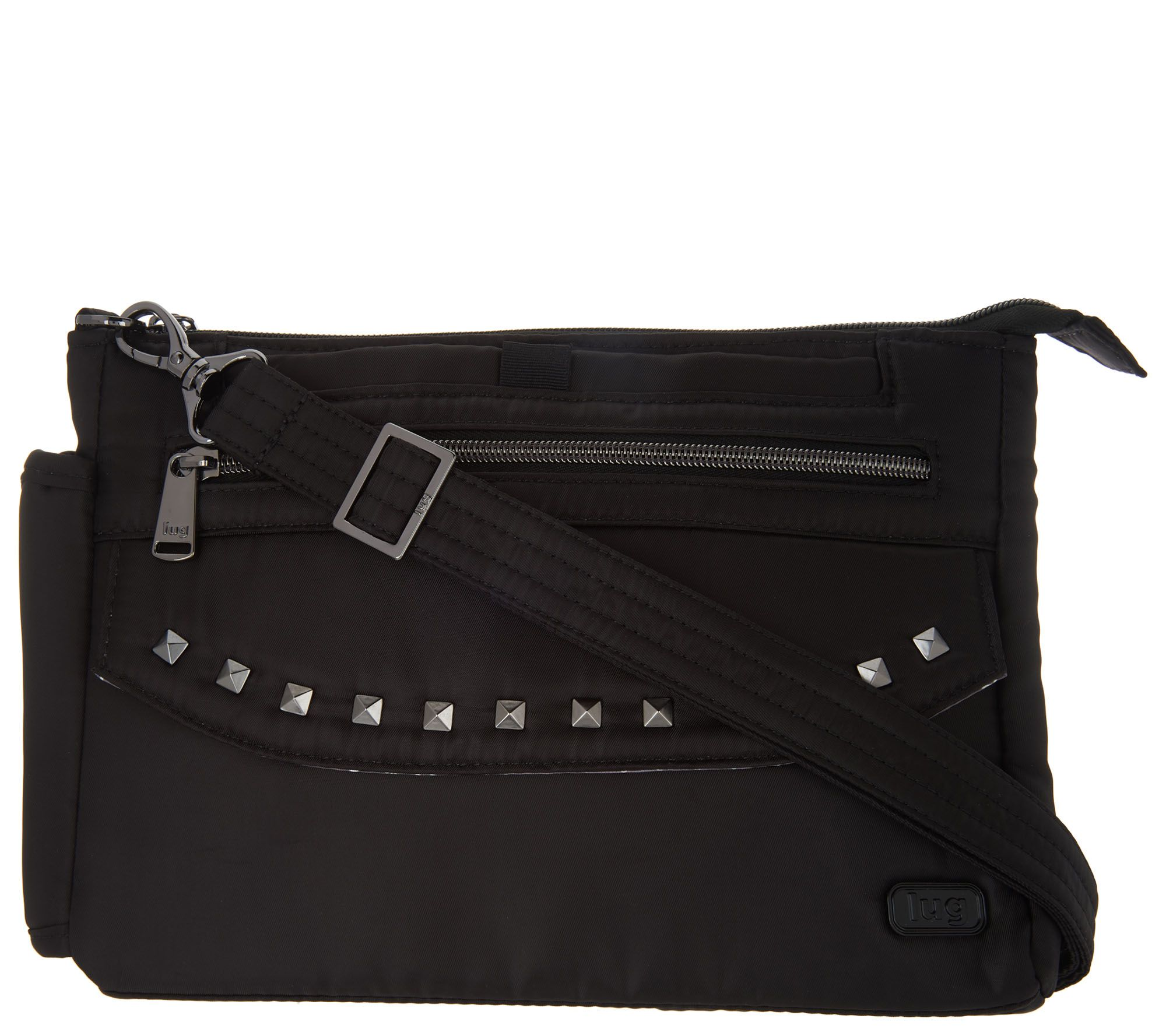 14cb940193cd Lug Studded Crossbody Bag - Pacer - Page 1 — QVC.com
