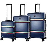 Mia Toro Italy 3-Piece Hardside Spinner LuggageSet -  Nastro - F232749