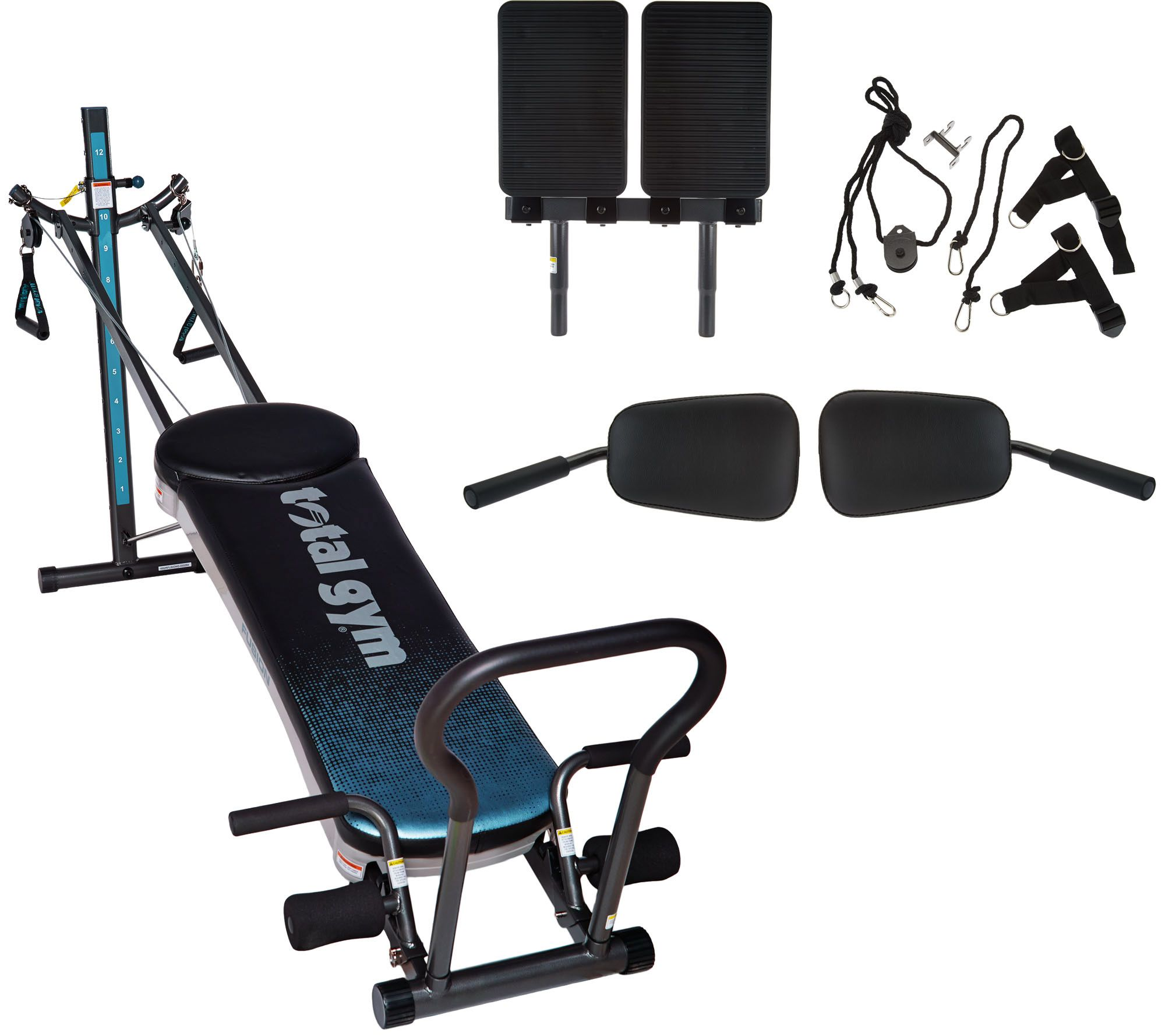Total gym fusion with step attachment pilates kit page u qvc