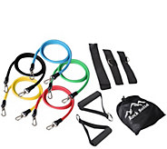 Rock Solid 11-Piece Resistance Band Kit - F232056