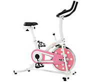 Sunny Health & Fitness Pink Indoor Cycling Bike - F248959