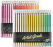Set of 72 Pre-Sharpened Colored Pencils by Artist Grade - F249861