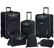 Travelers Club 6-Piece Softside Expandable Family Luggage Set - F249362