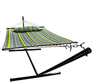 Sorbus Hammock with Spreader Bars and Detachable Pillow - F232164