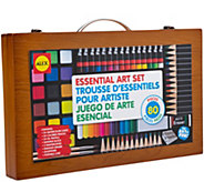 ALEX Toys Artist Studio 80-Piece Art Set w/ Wood Carrying Case - F250371