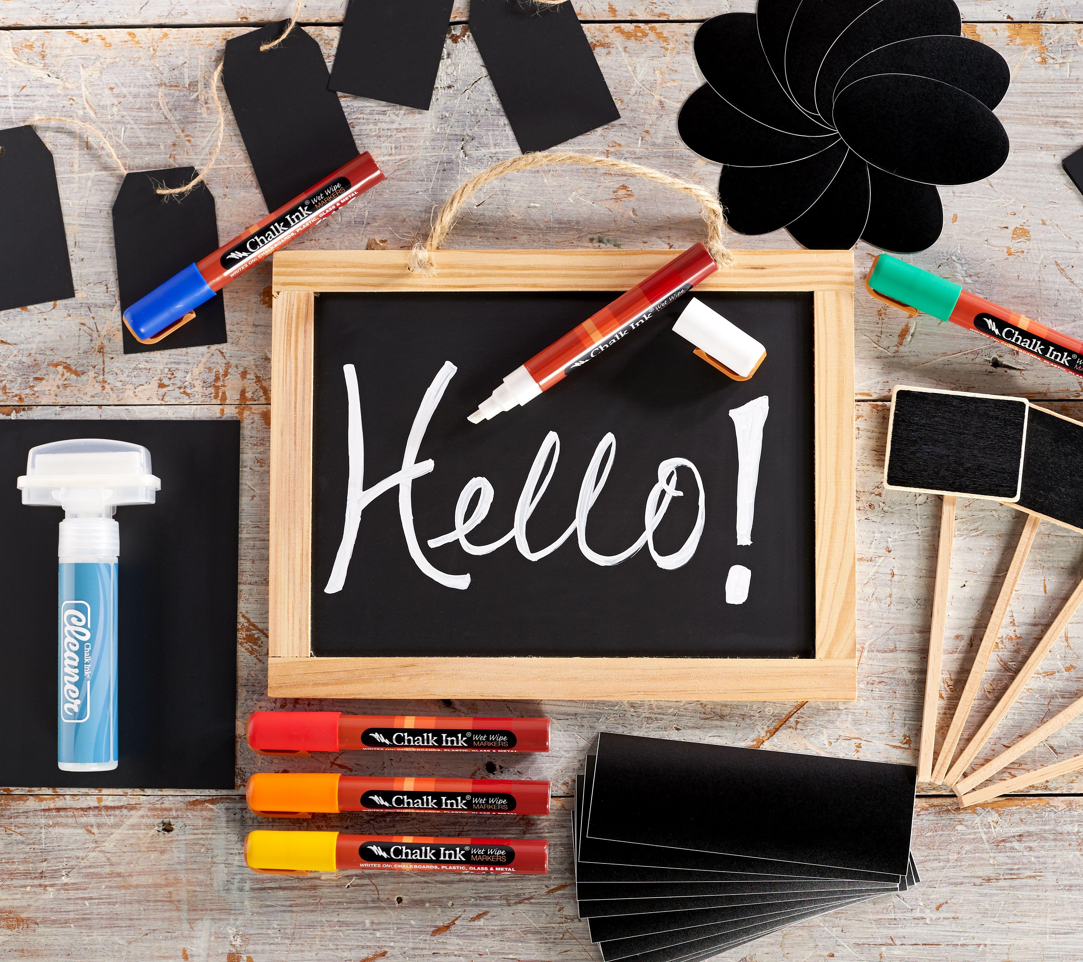 6 Chalks Six Blackboard Plastic Nesting Dolls