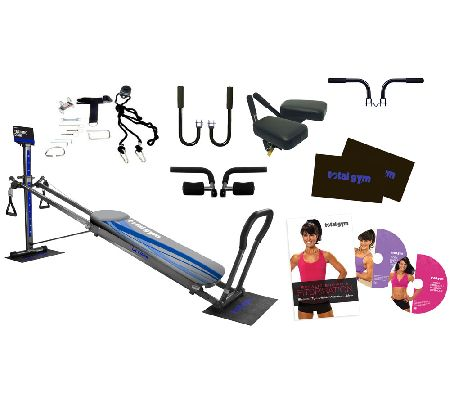 Total gym ultima silver with dvds floor mats attachments