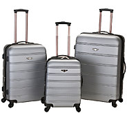 Rockland Luggage Melbourne 3 Piece ABS LuggageSet - F249074