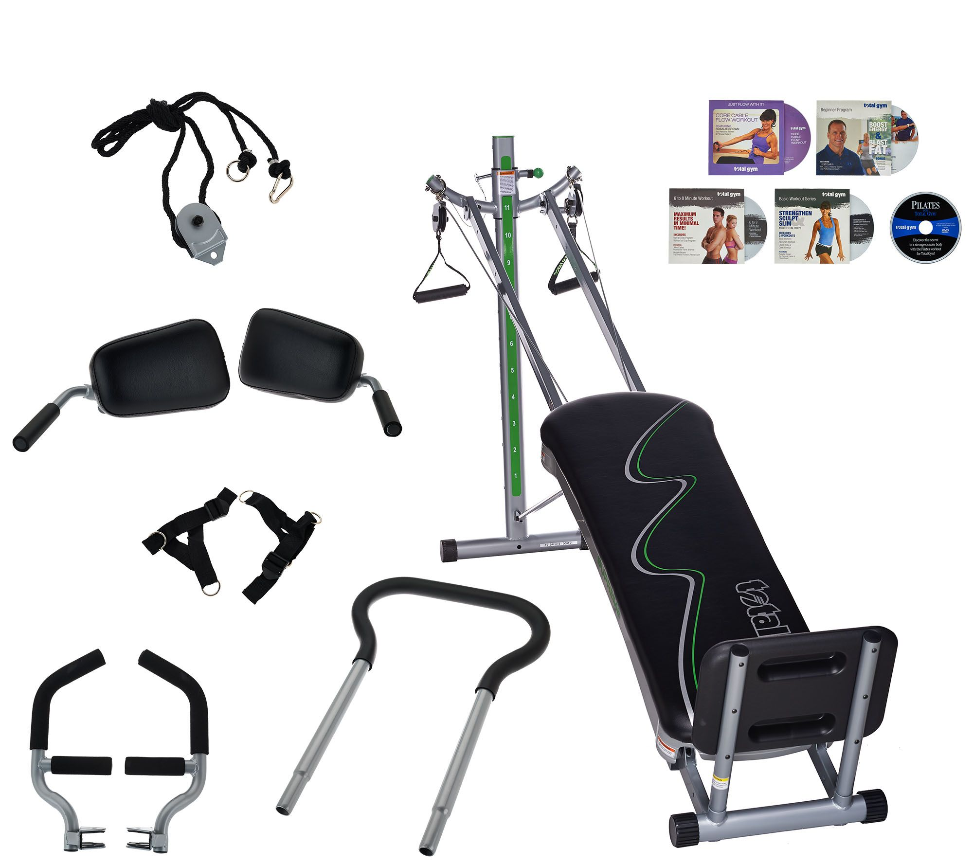 Total gym th anniversary supreme with attachments and dvds