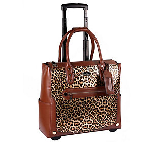 Karla Hanson Printed Rolling Carry-On Luggage Bag
