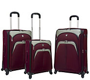 Travelers Club 3-Piece Softside Spinner LuggageSet- Lexington - F249388