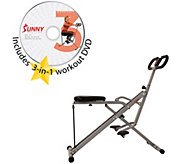 Sunny Health & Fitness Upright Row-n-Ride Squat Exerciser - F13289