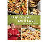 Easy Recipes Youll Love Cookbook by Tony Notaro - F13291