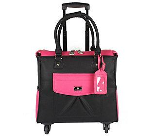 Karla Hanson Four-Wheel Rolling Carry-On Luggage Bag