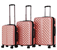 Triforce High-Gloss Quilt-Texture 3-pc LuggageSet - Provence - F234596