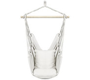 Sorbus Blue Hanging Rope Hammock Chair Swing Seat - F232098