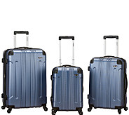 Fox Luggage 3pc Sonic ABS Upright Luggage Set - F249098