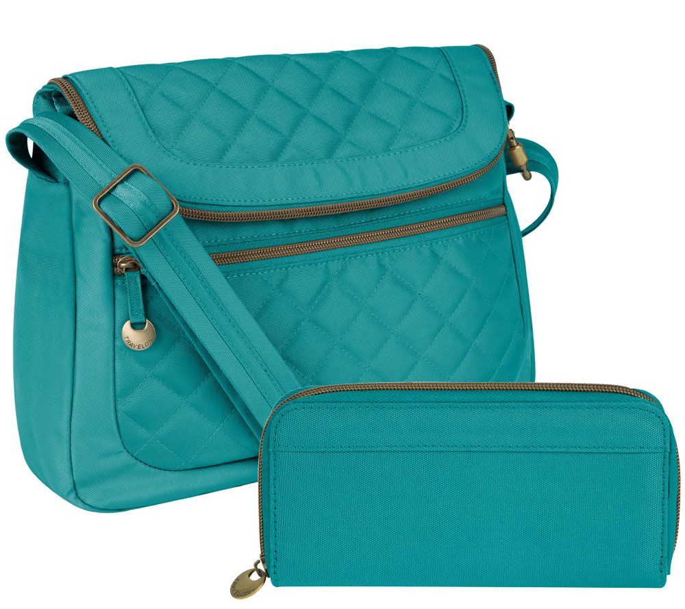 Travelon Anti Theft Quilted Convertible Bag W Rfid Wallet Page 1 Qvc