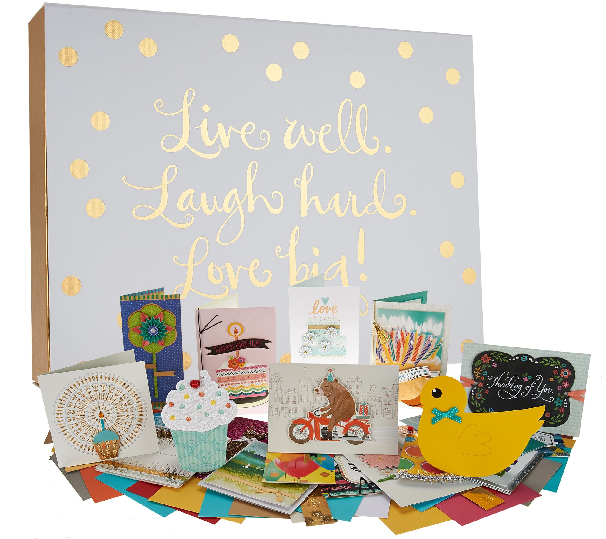 Hallmark 24ct Handcrafted Embellished Boxed Card Set w/ Storage Box ...