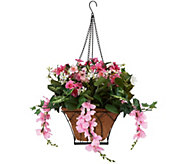 Bethlehem Lights Prelit Wisteria Hanging Basket with Timer - H210700