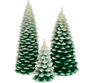 HomeWorx by Harry Slatkin Set of 3 Trees or Pinecones Figural Candles - H211400