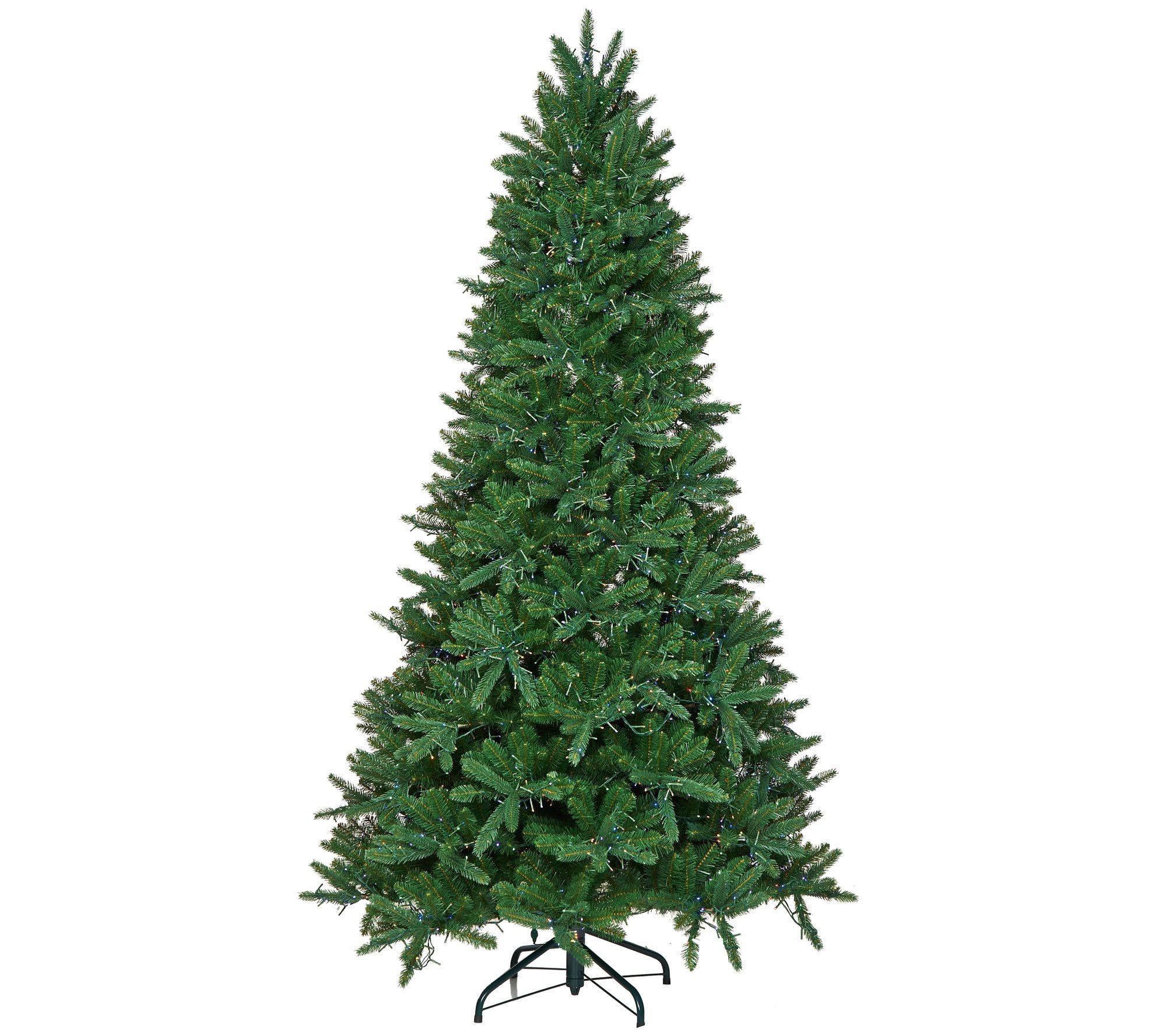 Santa\'s Best 9\' Starry Light Microlight Christmas Tree w/Flip LEDs ...