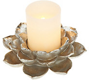 Home Reflections Lotus Holder with Flameless Candle - H213600